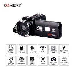 low priced electronics Coupons - KOMERY Original 4K Video Camera Support Wifi Night Vision 3.0 Inch LCD Touch Screen Camera Fotografica Best Quality Lowest Price