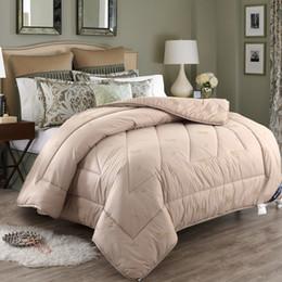 2019 wolldecken Mixed Camel Wool Quilt Fashion Schlafzimmer verdicken Herbst und Winter Tröster Core warm halten Doppelbett Single Space Quilt günstig wolldecken