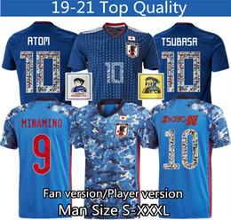 2020 font camisa de futebol fontes número Soccer Jersey desenhos animados Japão 10 Player versão Jersey 2020 2021 Tailândia alta qualidade 18 19 soccer uniforme agasalho S - XXXL font camisa de futebol barato