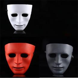 Material de baile online-Máscaras de miedo máscara de Halloween danza de la calle Realizar pieza facial Ghost Dances Decoración Material plástico de Halloween Navidad Con El Vendaje 1 5lhC1
