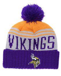 2019 New 1 Piece HOT men Women Winter vikings Fashion Beanies Brand Fans  Cuffed Knit Caps Minnesota Skull Out Door Beanie Hats 199165eaa90c