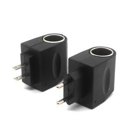 eu plug mini cargador de coche Rebajas LOONFUNG LF202 AC a DC Adaptador de corriente para automóvil Socket Converter Home Auto Cigarette Lighter