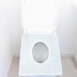 capa de polpa Desconto Descartável Toilet Seat Covers Waterproof Embaladas individualmente viagem Toilet Seat Covers de Formação Sanitários públicos Potty