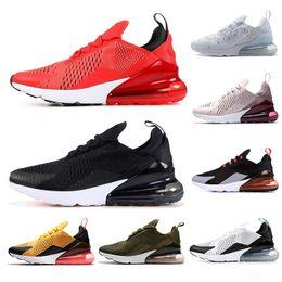Scarpe arancione scarpe da donna online-Nike air max 270 Scarpe da corsa floreale per le donne Scarpe Uomo SE estate gradienti Triple Black White RAINBOW TALLONE Volt mens arancione Trainer Sport Sneakers 36-45