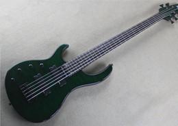 fogo de guitarra Desconto Fire Eagle quantum 5 baixo de cinco cordas da mão esquerda guitarra baixa elétrica verde escuro, mais bagagem, transporte livre