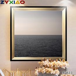 Moderna pittura a olio di tramonto online-ZYXIAO Pittura a olio di grandi dimensioni Pop Art paesaggio tramonto mare Home Decor su tela Modern Wall Art No Frame Stampa Poster foto A7611
