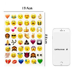 2019 fogli adesivi Murale Sticke Emoji Adesivi Cellulare Bambini Camere Home Decor Decal Murale Sticker Notebook Messaggio Emoji Adesivi 4 Fogli / Lotto DH0923 fogli adesivi economici