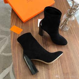 Botas de tacones mujer desnuda online-2019 nuevas botas de diseño, cargadores desnudos de las mujeres de invierno, botas elásticas de lujo, los mejores cargadores del tobillo de cuero, tamaño: los tacones altos 35-40,10cm