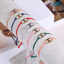 tb großhandel Rabatt Umarmung Ehrgeiz Charms Seil Armbänder TB Marke Liebe Punk Zwillinge Einstellbare Armreifen mit 1,8 * 1,1 cm Anhänger Schmuck Billig Großhandel DHL