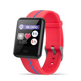 Tela grande do telefone on-line-F5 pulseira inteligente 1.3 polegada tela grande duas cores pulseira com passo novo ritmo cardíaco pressão arterial IP67 à prova d 'água longa espera
