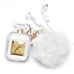 projetos do keychain para meninas Desconto Trezentos casos de silicone para airpods case com bola de pêlo de pele bonito chaveiro cinta airpod 2 case design para meninas e mulheres t190628