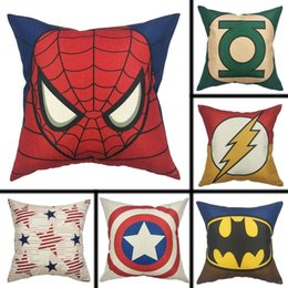 sedie africane Sconti mling 1pcs 45x45cm supereroe Marvel decorativo Cuscino di lino cuscino del divano della vita del cuscino Cuscino decorativo Coperchio