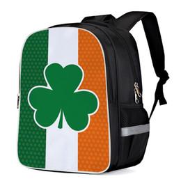 bandierine irlandesi Sconti Day di San Patrizio Bandiera irlandese Zaini multiuso Zaino porta computer Borse per libri scolastici Zaini casual Borse sportive Borse hobo
