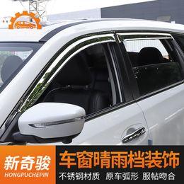 cubierta mazda espejo Rebajas ACCESORIOS FIJAR LA VISTA DE LA GUARDIA DE LOS DEFENSORES DE LLUVIA DE LA VENTANA LATERAL PARA Nissan X-Trail X Trail 2014--2019 Estilo de automóvil