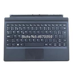 Teclado ideapad online-Nueva base negra para teclado del Reino Unido para Lenovo IdeaPad MIIX 510-12ISK Tableta con retroiluminación magnética 2 en 1