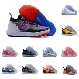 c636caeb81 new arrival kd basketball shoes Coupons - 2019 New Arrival KD XI 11 Blue  Red Black