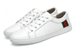 Neue koreanische männer beiläufige schuhe online-2019 neue Frühling und Sommer Männer Sportschuhe koreanische Leder weiße Schuhe atmungsaktive Leder Herren Freizeitschuhe Flut G021