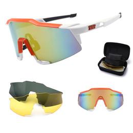 Substituição lentes para óculos de sol on-line-Moda ciclismo óculos de sol para homens esportes à prova de vento colorido óculos destacável lente de substituição esportes ao ar livre