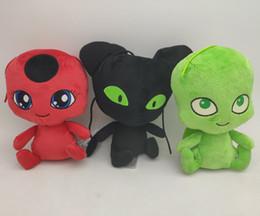 Joaninha de brinquedo on-line-Miraculosa Boneca Joaninha A Nova 6 Polegada Carton Boneca De Pelúcia Joaninha Gato Preto Boneca De Pelúcia Brinquedo De Pelúcia Presentes Para Crianças brinquedos