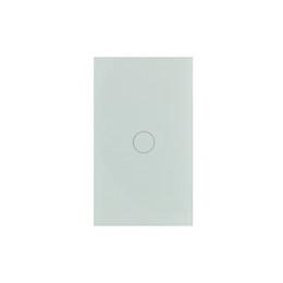 Interruptor de luz inteligente sem fio on-line-EUA WIFI Controle Sem Fio Interruptor de Luz Inteligente de Parede de Vidro de Cristal 1Gang Suporta Alexa e Google Home