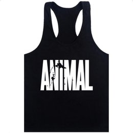 Deutschland Animal Stringer Bodybuilding-Trägershirt Solid Gym Singlet Muscle Herren Racer-back Vest Tee Versorgung