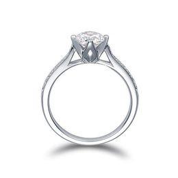Anéis gia on-line-Pay4U EUA GIA certificado 18 K ouro branco 1 ct moissanite anéis de noivado para as mulheres, corações e flechas, casamento anéis de diamante para as mulheres