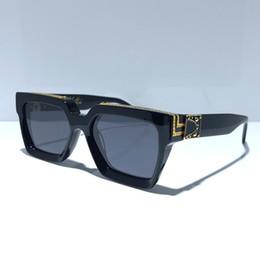 Vender plato online-MILLIONAIRE gafas de sol de marco completo Diseñador de época 1165 gafas de sol para hombres Shiny Gold Venta caliente Chapado en oro De calidad superior 1.1 Gafas de sol 96006