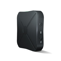Adattatore bluetooth senza fili per altoparlanti online-2019 KN319 2 IN 1 Ricevitore trasmettitore Bluetooth 3.5mm Adattatore wireless Bluetooth 4.2 Stereo Audio Dongle per TV Car / Home Altoparlanti