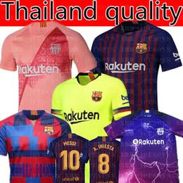 2019 uniformes de fútbol femenino Barcelona MESSI 10 Soccer Jersey  A.INIESTA 8 Suárez 9 469621711d212