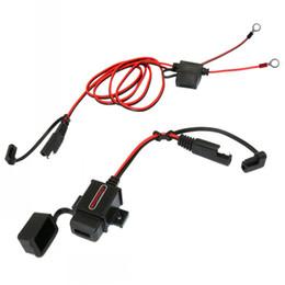 Usb-накопители онлайн-MOTOPOWER MP0609AA 3.1Amp Водонепроницаемый комплект USB-зарядного устройства для мотоцикла SAE-USB Кабель-адаптер W / SAE Cap Телефон для мотоцикла Планшетный автомобильный GPS-зарядка