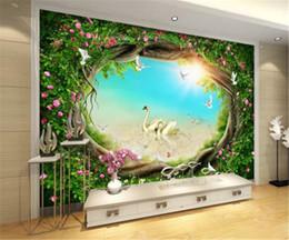 3D Fantacy Garden Wall Murals Wallpaper Paper Art Print Decor