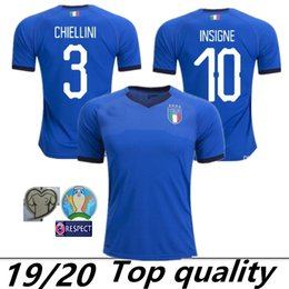 2019 camisetas de futbol de italia Tamaño: S-XXL 2019 italy Soccer Jersey 19 20 Copa de Europa BONUCCI IMMOBILE INSIGNE CANEREVA CHIELLINI buffon casa Fútbol Camisetas rebajas camisetas de futbol de italia