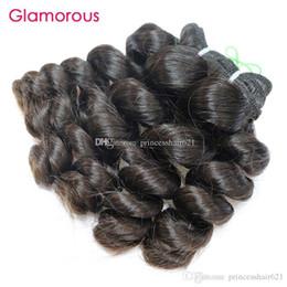indiens vierges vagues de l'océan de cheveux Promotion Glamorous Cheap Virgin Hair 1 Bundles Péruvien Armure de Cheveux Humains Double Trame Malaysian Indien Océan Brésilien Vague Ondulés Cheveux Extensions Trames