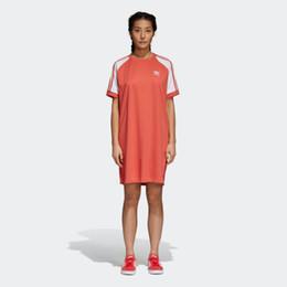 vestido sem mangas com bainha assimétrica e pescoço Desconto Mini Vestido para As Mulheres de Verão de Manga Curta Mulheres Vestidos de Estilo Esporte Ao Ar Livre Acitve Cor Sólida Moda Feminina Vestido Solto