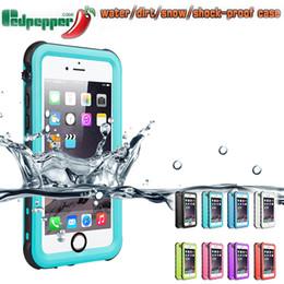 Argentina Redpepper la caja a prueba de choques de la suciedad resistente al nadar practicar surf del caso para el iPhone XS Max 8 7 6S Plus Samsung S10 Plus Nota 10Pro cheap surf covers Suministro