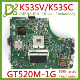 scheda madre b75 Sconti KEFU K53SV Scheda madre per notebook K53SV REV 3.0 / 3.1 Adatta per notebook ASUS K53SC A53S X53S P53S K53SJ K53SC