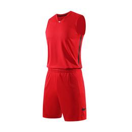 Billige teamkleidung online-2020 Rosa NCAA Men Basketball-Trikots-Sets Günstige Erwachsenen Uniformen Sport Kit Kleidung maßgeschneiderte Jersey Shirts Shorts