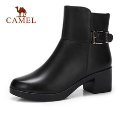 d5cc7a0652a5 CAMEL Women Fashion Ankle Short Boots Women Buckle Leather Casual Martin Short  Boots For Ladies Soft Retro Wild Shoes