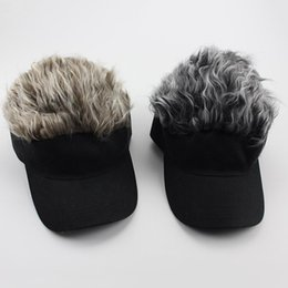 men spiked hat Promo Codes - 1 Pcs Wig Baseball Hat Sun Visor Cap with Spiked Hair Winter Warm Outdoor Caps BB55