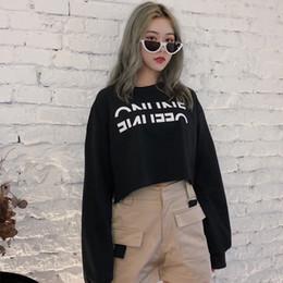 nuovi vestiti coreani per le donne Sconti Abbigliamento donna Taglie forti Taglie casuali coreane Autunno Nuove felpe Short Pullover Harajuku Long Sleeve Womens