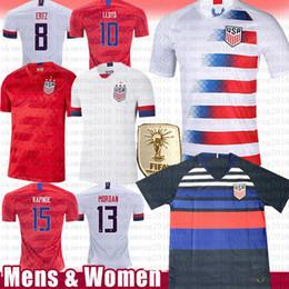 méxico verde camisa Desconto dos homens Mulheres LLOYD 10 KRIEGER 11 MORGAN 13 América Estados Unidos EUA Soccer Jersey camisa de futebol equipa RIPINOE Pulisic McKennie Nacional