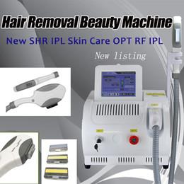 2019 ipl laser facial rejuvenescimento Dois sistema E-luz depilação a laser ipl rejuvenescimento facial laser shr máquina de beleza rápida da remoção do cabelo desconto ipl laser facial rejuvenescimento