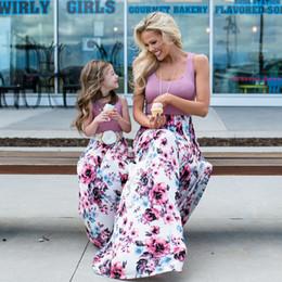 abito di famiglia alikes madre figlia Sconti Vestiti di corrispondenza della famiglia Donne Ragazze Madre e figlia Abiti da festa floreali Abiti da sera casual Abiti da bambina