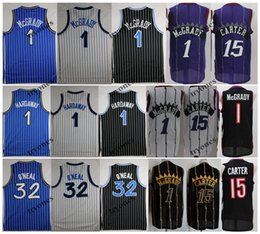 pallacanestro t Sconti NCAA Vintage 1 T-Mac Tracy McGrady Vince Carter 15 Shaquille O'Neal Shaq 32 Penny HardAway Basket Bales Baskey