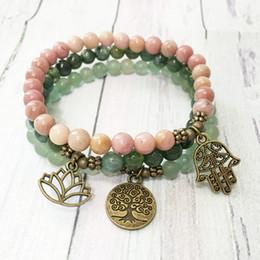 7 Chakra Colorful Beads Bracelet Lotus Pendant EnergyYoga Ankle Chain Jewelry ZF