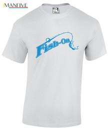 Fisch auf Mens Angeln T-Shirt Fly Sea Fisherman Fluss Boot T-Shirt T-Shirt neue Männer T-Shirt 2019 Summer Fashion O Neck von Fabrikanten