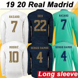Manga de futbol online-19 20 Real Madrid HAZARD MODRIC KROOS Inicio Camisetas de fútbol de manga larga SERGIO RAMOS BENZEMA Camisetas de fútbol para hombre ISCO BALE MARIANO Uniformes