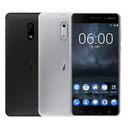 celulares lumia Rebajas Reacondicionado Nokia 6 5.5 Inch 64 GB ROM 4GB RAM 16MP 8MP Cámara Dual SIM Smart Cell Phones