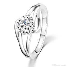 bijoux de fantaisie pierres précieuses Promotion Anneaux de mariage hommes femme populaire dames anneau avec luxe Autriche Crytsal Costume bijoux Cubique Zircone Gemstone Anneaux