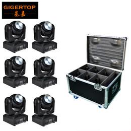 A buon mercato in movimento online-6IN1 Flightcase Pack Double Side Mini Led Moving Head Light 4x10w + 1x10w RGBW 4IN1 Colore Prezzo a buon mercato Fornitore della Cina
